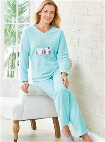Owl Fleece PJs