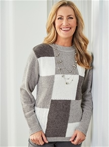 Chenille Block Sweater