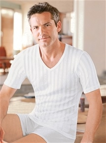 Mens Cotton Rib Short Sleeve - 2 Pack