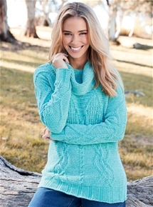 Chenille Roll Neck Sweater