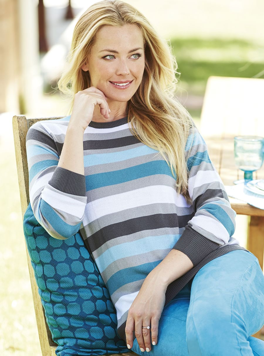 Stripe Sweater Blue Multi 20