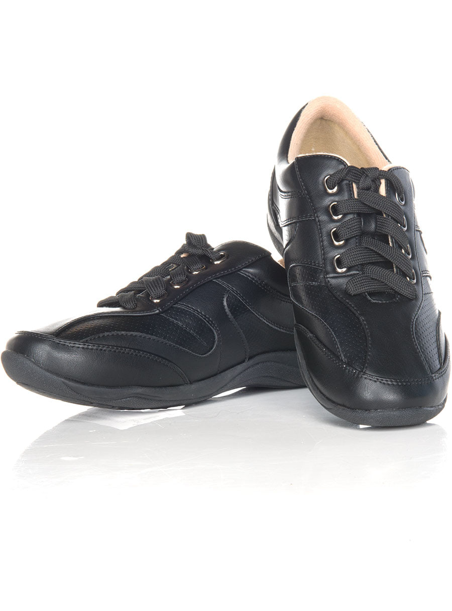 Lace Up Walker Shoe Black 08