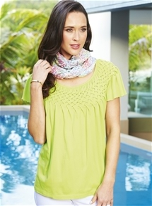Frill Neck Smock Top