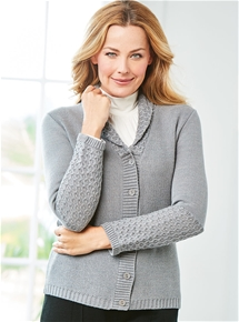 Thermal Shawl Collar Cardigan