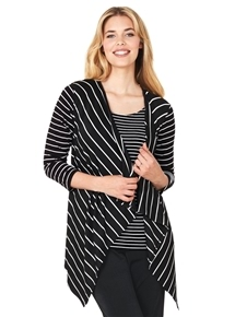 Travel Mix Stripe Cardi