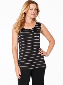 Travel Reverse Stripe Tank
