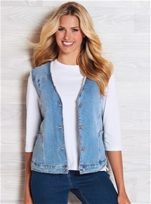 Sherpa Lined Denim Vest