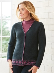 Rose Border Cardigan