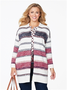 Splice Stripe Cardigan