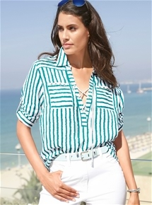 Wave Stripe Blouse