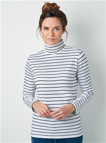 Long Sleeve Stripe Turtleneck Tee