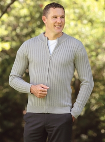 Zip-up Men's Cardigan