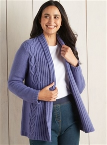 Edge to Edge Shawl Collar Cardigan