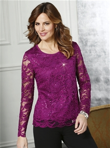 Rhinestone Lace Top
