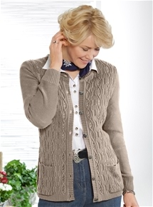 Cable Knit Cashmilon Cardi