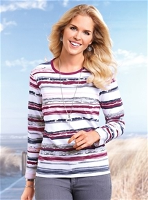 Tonal Stripe Top