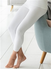Brushed Thin Rib Long Pants