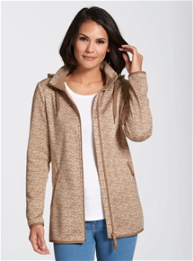 Melange Fleece Jacket - Short Length