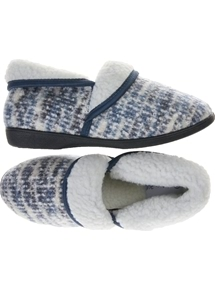 Velour Foldover Slipper