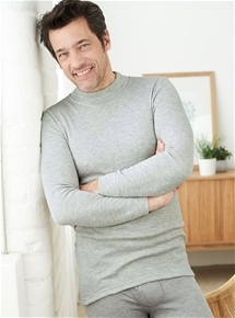 Men's Brushed Thin Rib Turtleneck