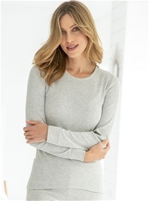 Brushed Thin Rib Long Sleeve