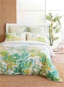 Green Palms Quilt Cover Set