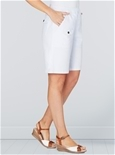 Elastic Waist Denim Shorts_12S11_2