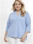 3/4 Sleeve Textured Tunic [PLUS SIZE]_17Y29_2