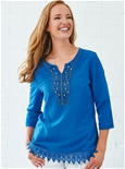 Beaded Lace Tunic_19A63_0