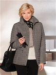 Crushed Effect Quilted Jacket_19Q50_0
