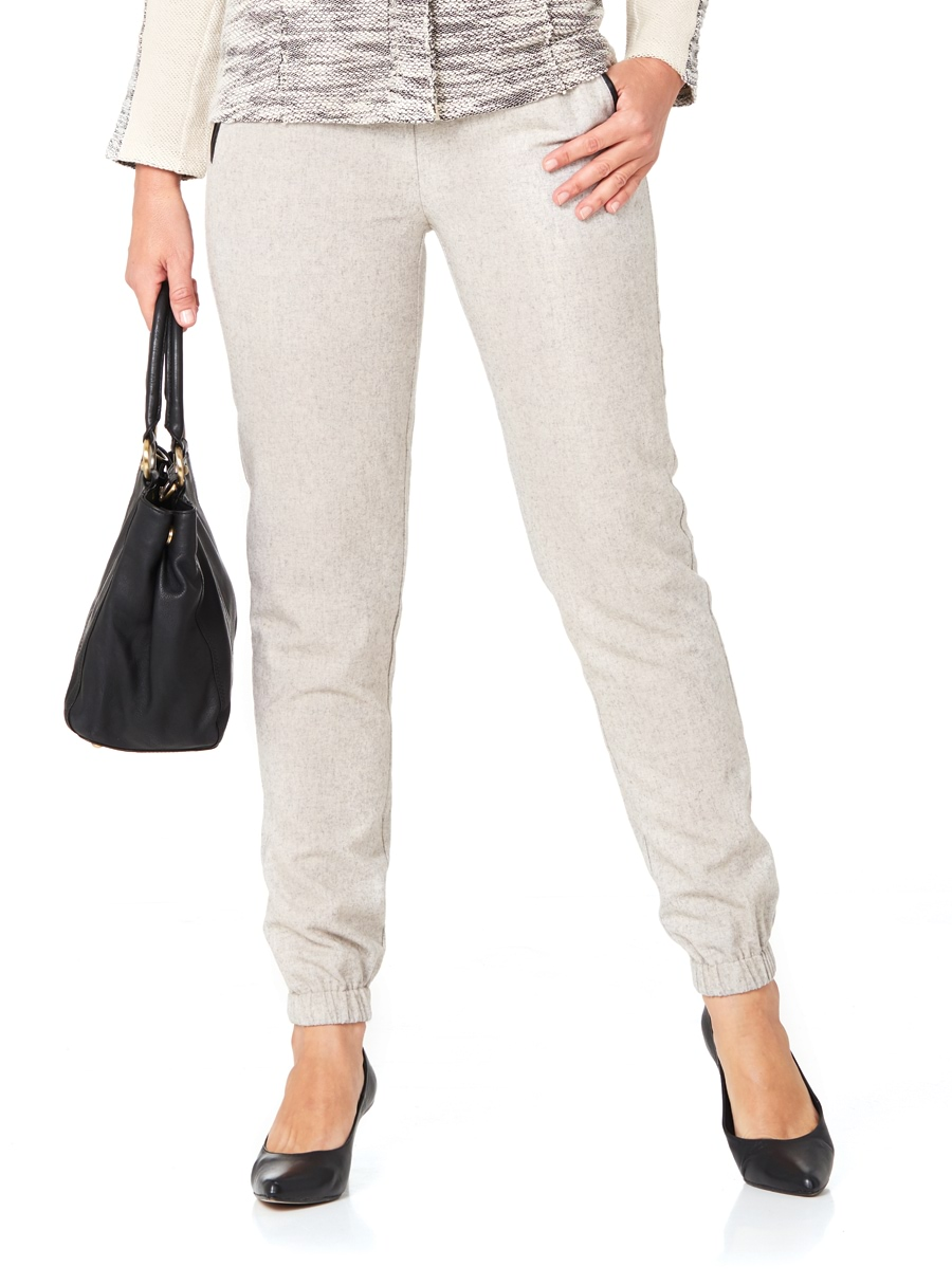 Travel Wool Pants Silver 20