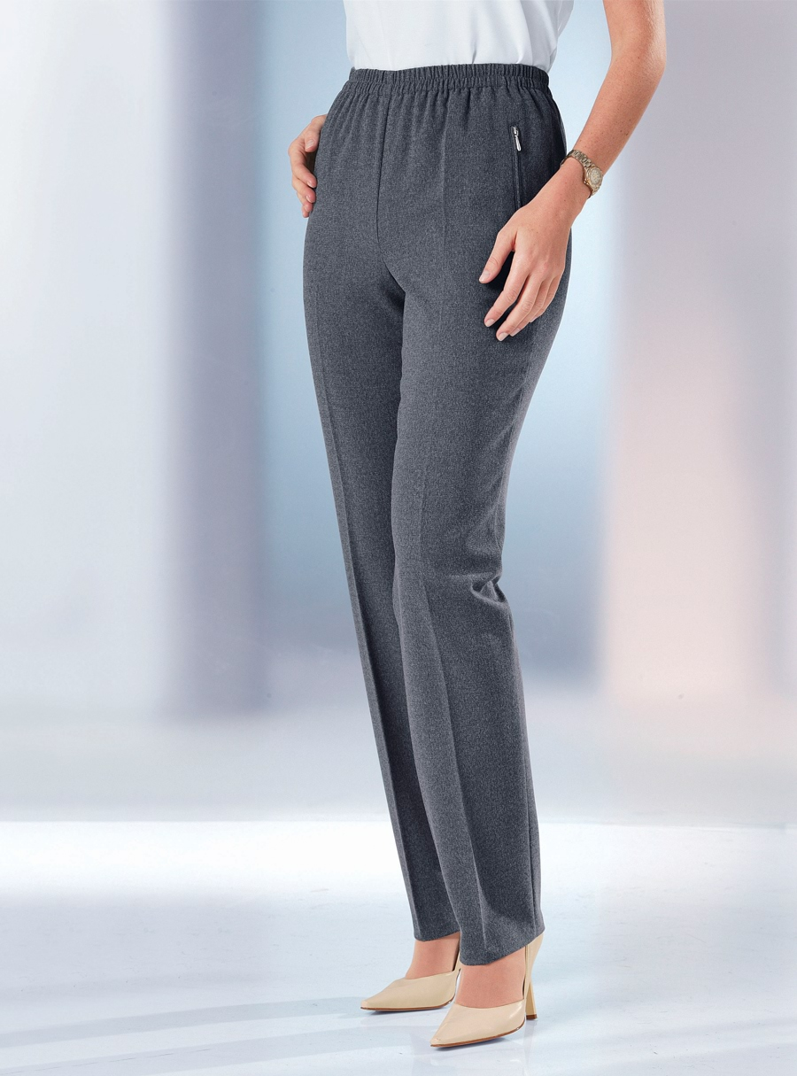 Stretch Waist Knit Trousers Black 18