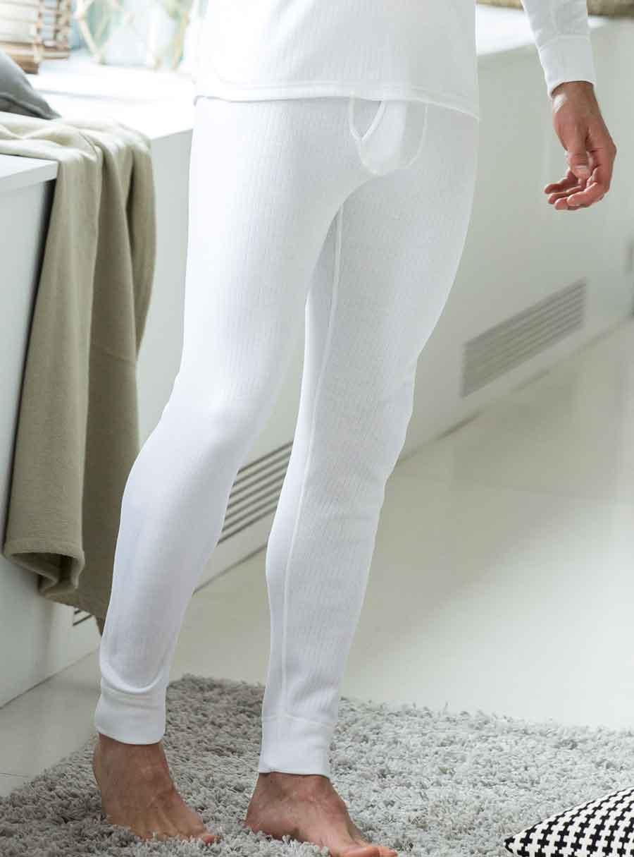 Brushed Rib Long Pants White S