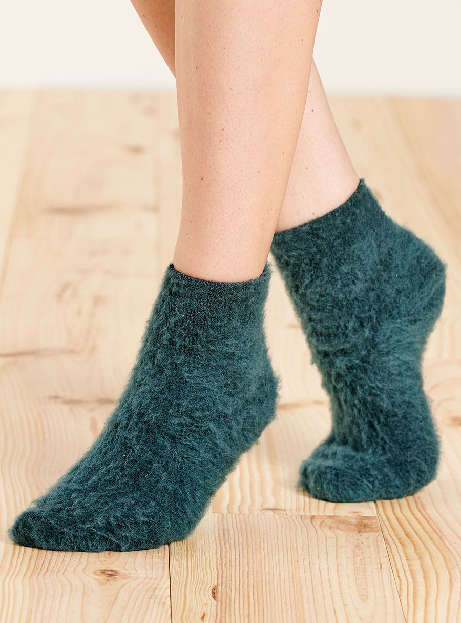 Thermal Ankle Length Bed Socks Natural S