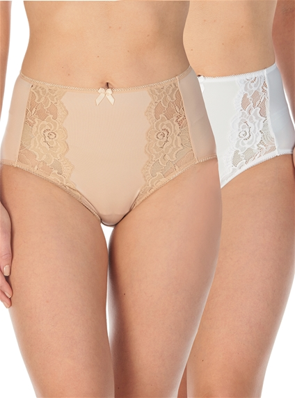 2 Pack Lace Briefs